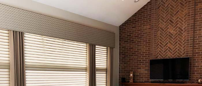 Cornice over Silhouette® Window Shadings